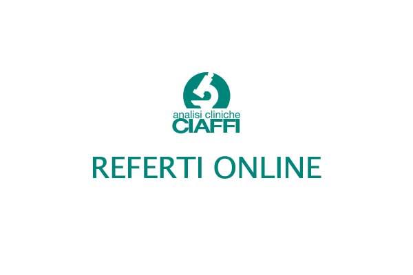 Referti online Analisi Cliniche Ciaffi